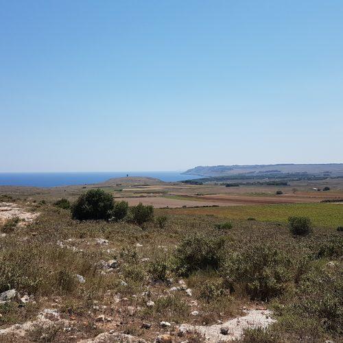 La costa di Otranto con al centro Torre San'Emiliano