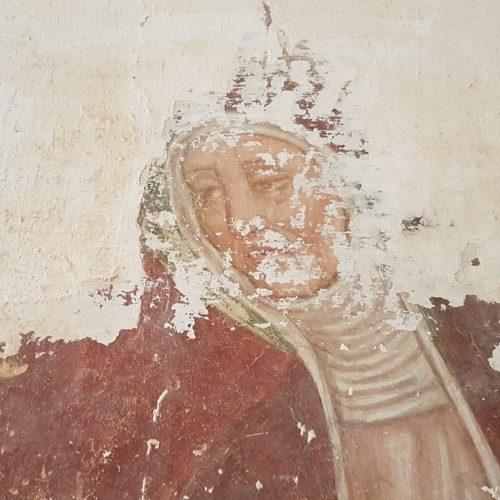 Uno degli affreschi della Chiesa di Santa Maria di Casole