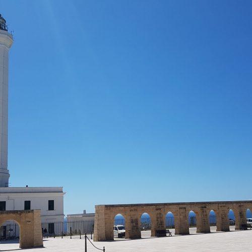 Il piazzale della Basilica di Leuca