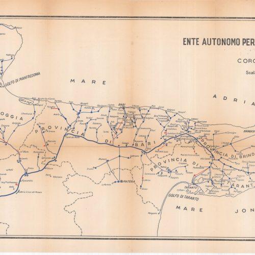 La mappa storica delle condotte dell'Acquedotto Pugliese