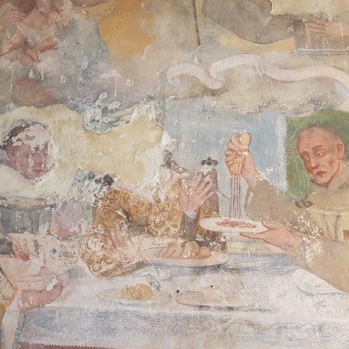 Un affresco all'interno della Chiesa di Casole