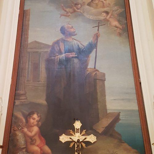 San Pietro in una tela della Basilica di Leuca