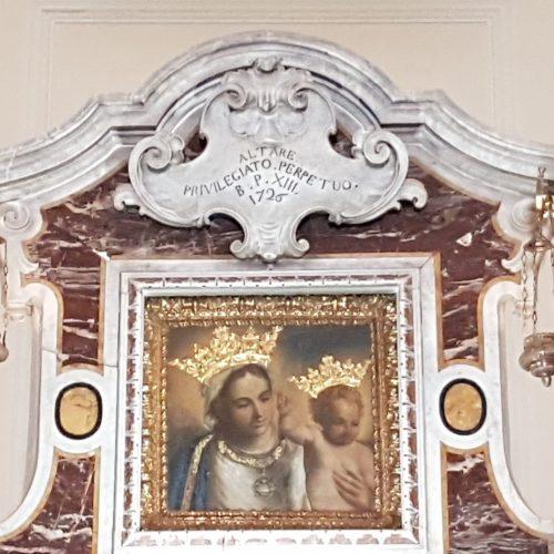 La Madonna di Finibus Terrae all'interno della Basilica