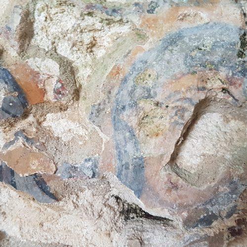 Un affresco nella Chiesa rupestre di Sant'Angelo